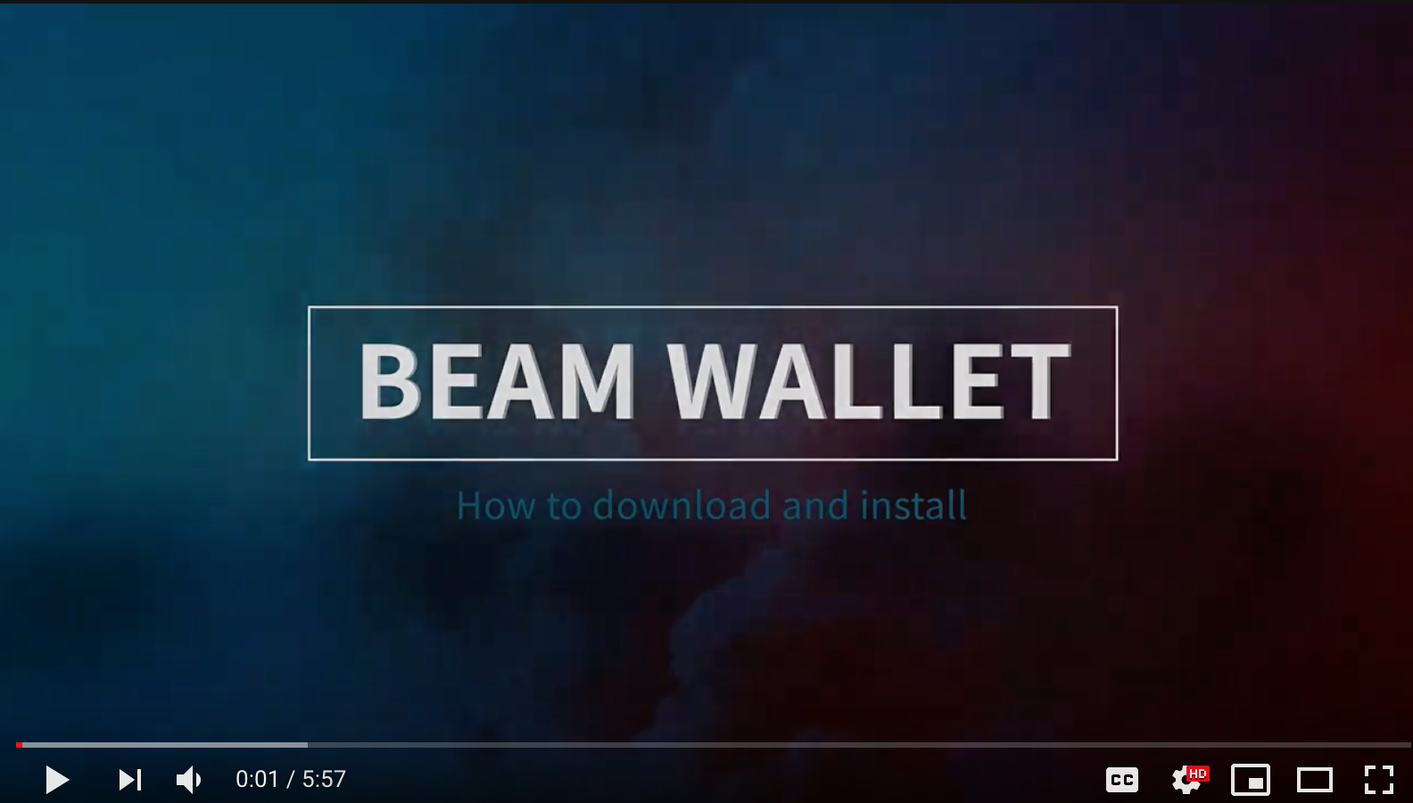 BEAM wallet download and installation guide