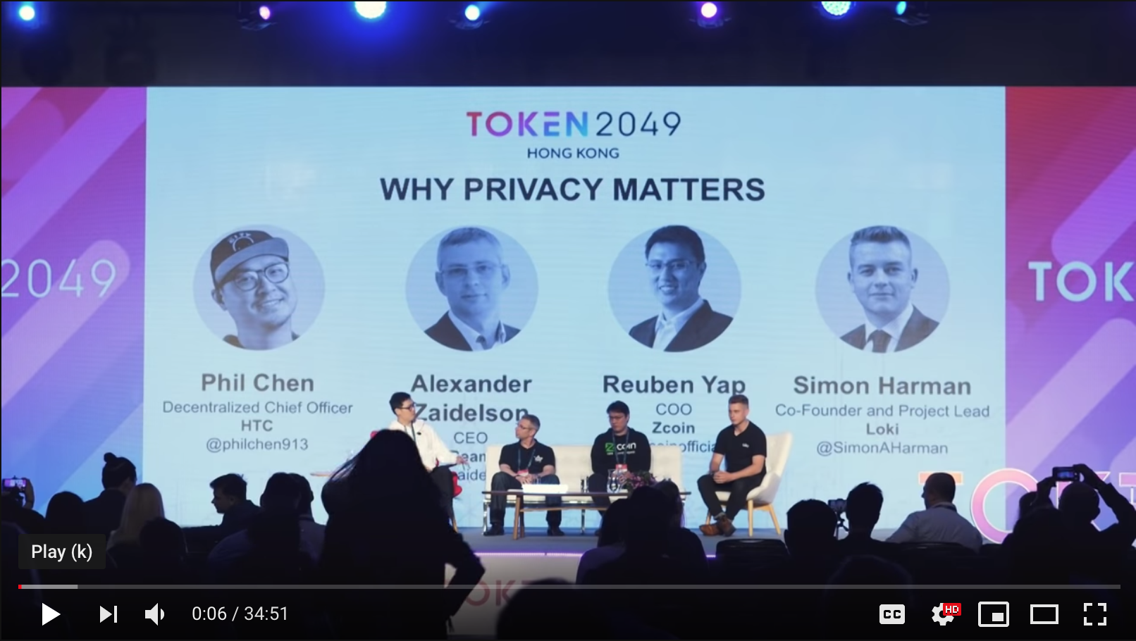 TOKEN2049 - Why Privacy Matters