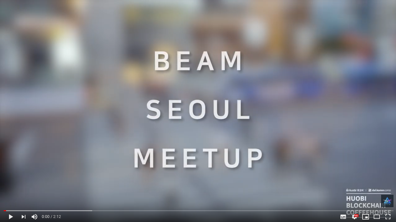 수정 Beam Meetup - Huobi Korea - May 23rd, 2019