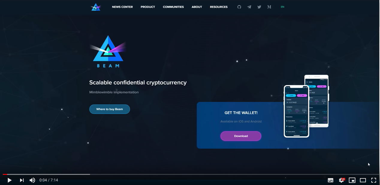 Beam- Scalable confidential cryptocurrency by Crypto Business